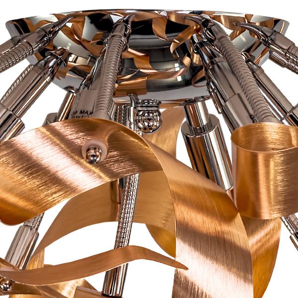 Потолочная люстра Lightstar Turbio 754061, 6xG9x40W, медь, металл - фото 3