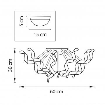 Схема с размерами Lightstar 754061