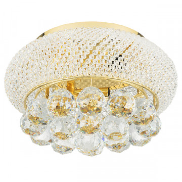 Потолочная люстра Lightstar Osgona Monile 704032, 3xE14x40W, золото, прозрачный, металл, хрусталь