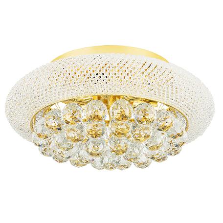 Потолочная люстра Lightstar Osgona Monile 704062, 6xE14x40W, золото, прозрачный, металл, хрусталь