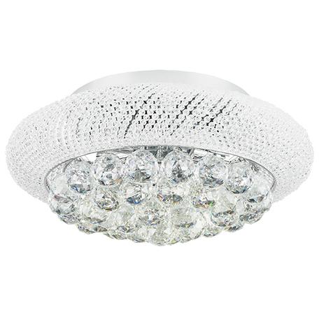 Потолочная люстра Lightstar Osgona Monile 704064, 6xE14x40W, хром, прозрачный, металл, хрусталь