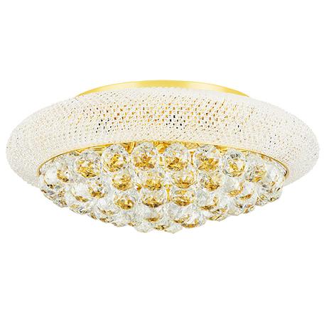 Потолочная люстра Lightstar Osgona Monile 704092, 9xE14x40W, золото, прозрачный, металл, хрусталь