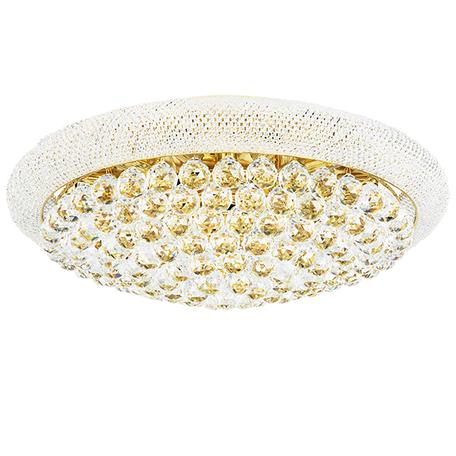 Потолочная люстра Lightstar Osgona Monile 704172, 17xE14x40W, золото, прозрачный, металл, хрусталь