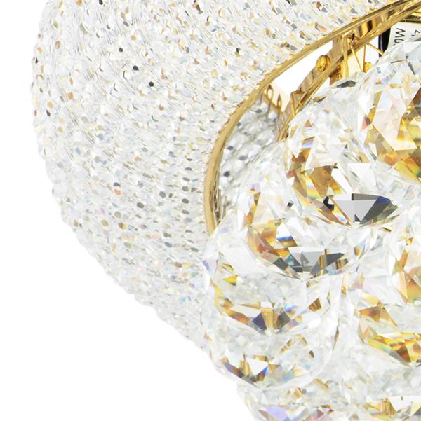 Потолочная люстра Lightstar Osgona Monile 704172, 17xE14x40W, золото, прозрачный, металл, хрусталь - фото 3