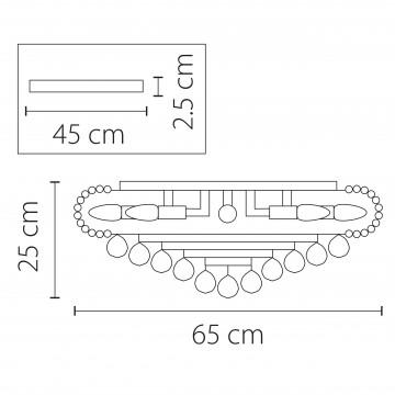 Схема с размерами Lightstar Osgona 704172