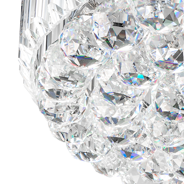Потолочная люстра Lightstar Osgona Regolo 713154, 15xE14x60W, хром, прозрачный, металл, хрусталь - фото 3