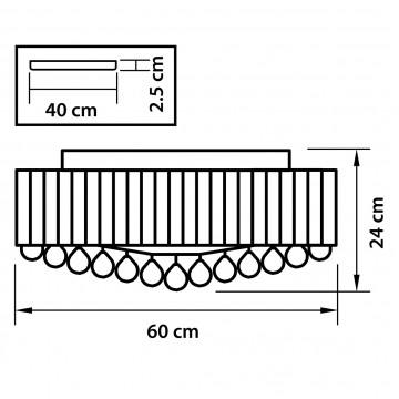 Схема с размерами Lightstar Osgona 713154