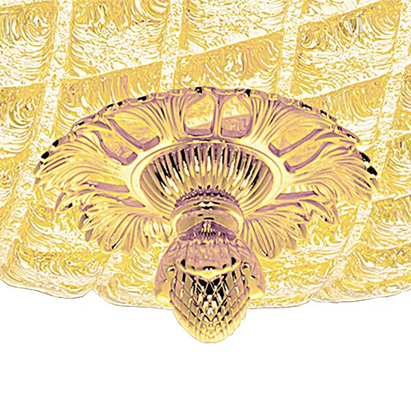 Потолочный светильник Lightstar Murano 602073, 7xE14x40W, золото, янтарь, металл, стекло - фото 2