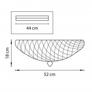 Схема с размерами Lightstar 602073