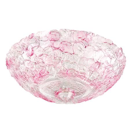 Потолочный светильник Lightstar Murano 604072, 6xE14x40W, белый, прозрачный, розовый, металл, стекло