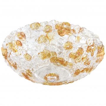 Потолочный светильник Lightstar Murano 604103, 10xE14x40W, белый, прозрачный, янтарь, металл, стекло
