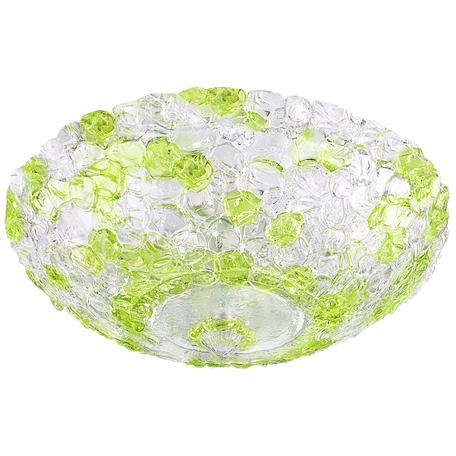 Потолочный светильник Lightstar Murano 604104, 10xE14x40W, белый, зеленый, прозрачный, металл, стекло