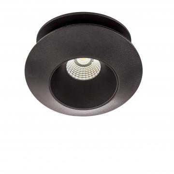 Встраиваемый светодиодный светильник с регулировкой направления света Lightstar Orbe 051207, LED 15W 4000K 1240lm, черный, металл