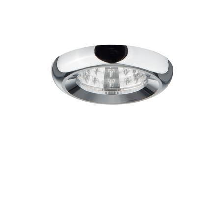 Встраиваемый светодиодный светильник Lightstar Monde 071114, IP44, LED 1W 4000K 80lm, хром, металл