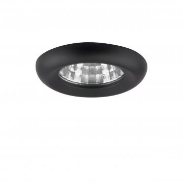 Встраиваемый светодиодный светильник Lightstar Monde 071117, IP44, LED 1W 4000K 80lm, черный, металл
