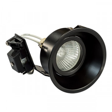 Встраиваемый светильник Lightstar Domino 214607, 1xGU5.3x50W, черный, металл
