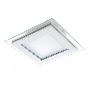 Встраиваемая светодиодная панель Lightstar Acri 212020, IP44, LED 6W 3000K 480lm, белый, металл со стеклом