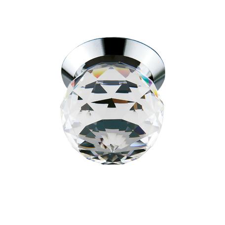 Встраиваемый светодиодный светильник Lightstar Gemma 070104, LED 1W 4000K 90lm, хром, прозрачный, металл, стекло - миниатюра 1