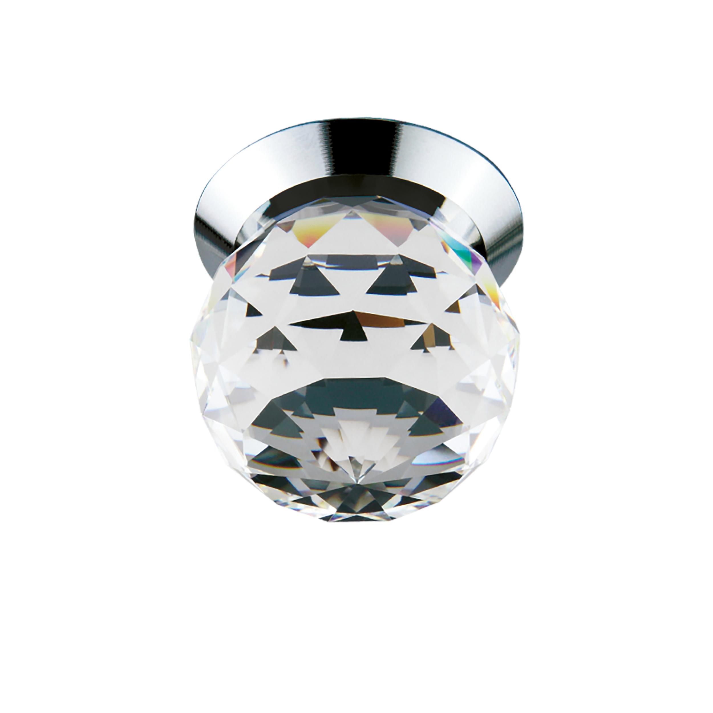 Встраиваемый светодиодный светильник Lightstar Gemma 070104, LED 1W 4000K 90lm, хром, прозрачный, металл, стекло - фото 1