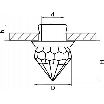 Схема с размерами Lightstar 070164