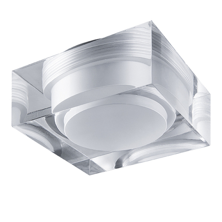 Встраиваемый светодиодный светильник Lightstar Artico 070244, IP44, LED 5W 4000K 400lm, прозрачный, стекло