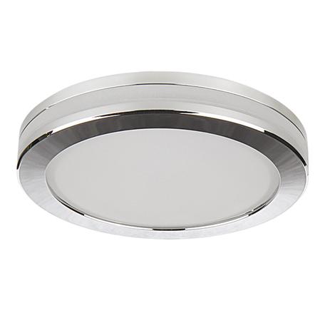 Встраиваемый светодиодный светильник Lightstar Maturo 070264, IP44, LED 9W 4000K 730lm, хром, металл со стеклом