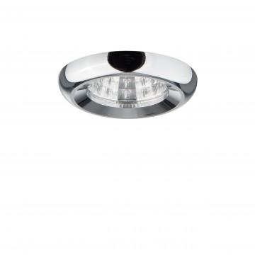 Встраиваемый светодиодный светильник Lightstar Monde 071014, IP44, 3000K (теплый), прозрачный, хром, металл, стекло