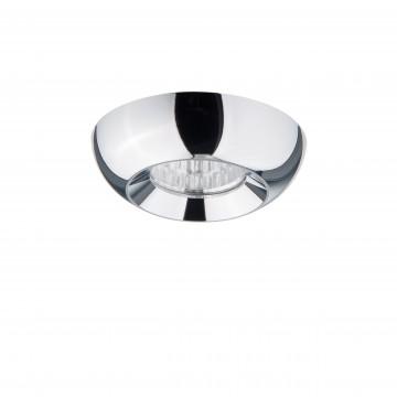 Встраиваемый светодиодный светильник Lightstar Monde 071034, IP44, 3000K (теплый), прозрачный, хром, металл, стекло