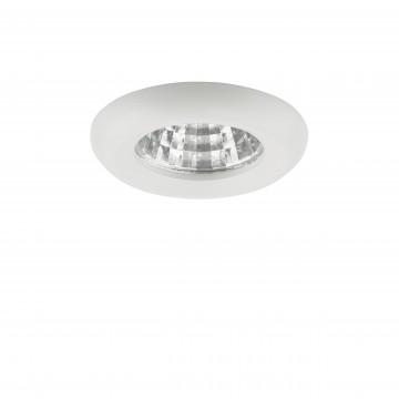 Встраиваемый светодиодный светильник Lightstar Monde 071116, IP44, LED 1W, 4000K (дневной), белый, прозрачный, металл, стекло