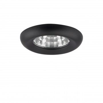 Встраиваемый светодиодный светильник Lightstar Monde 071117, IP44, LED 1W, 4000K (дневной), прозрачный, черный, металл, стекло
