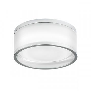 Встраиваемый светодиодный светильник Lightstar Maturo 072274, IP44 4000K (дневной), белый, хром, стекло