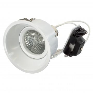 Встраиваемый светильник Lightstar Domino 214606, 1xGU5.3x50W, белый, металл