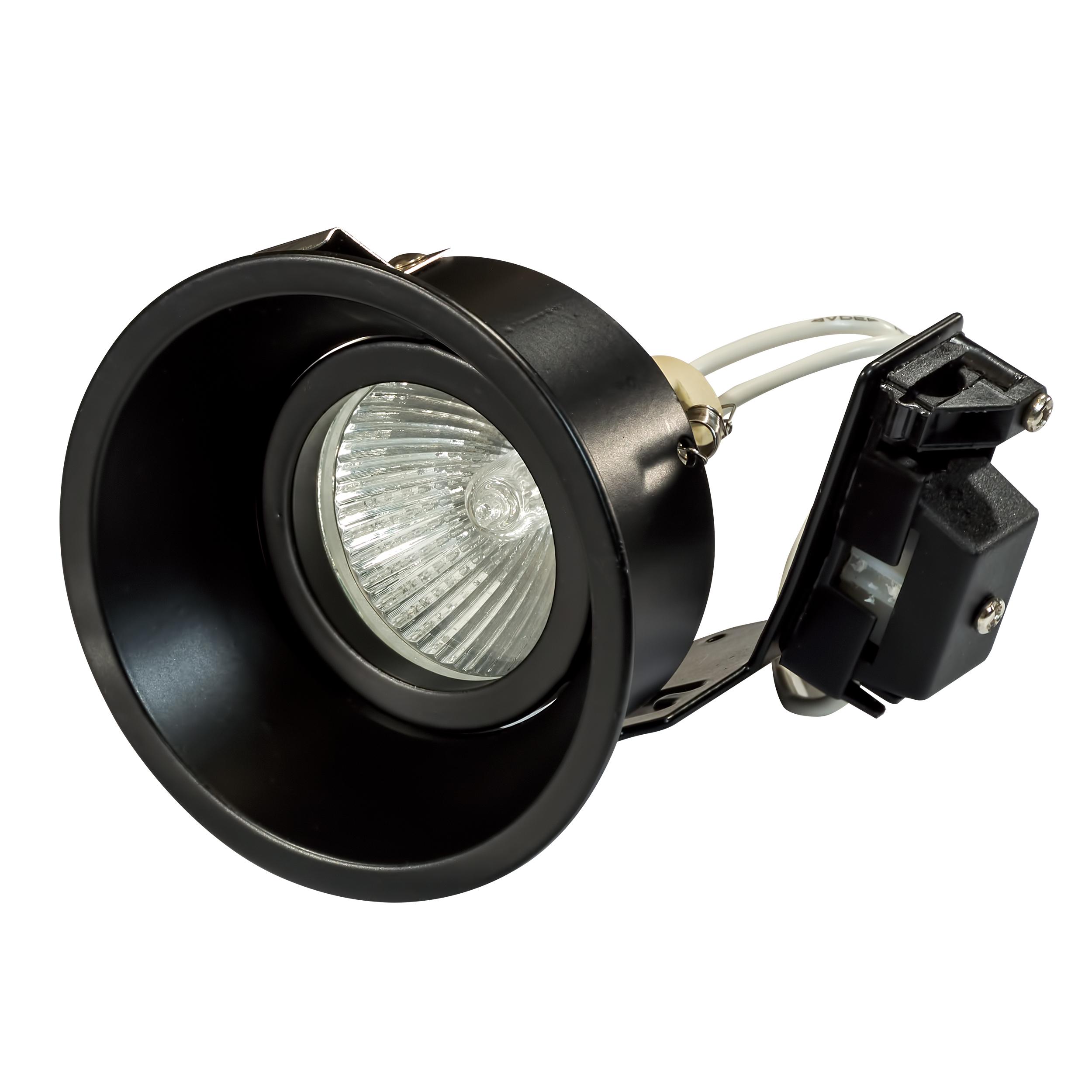 Встраиваемый светильник Lightstar Domino 214607, 1xGU5.3x50W, черный, металл - фото 1