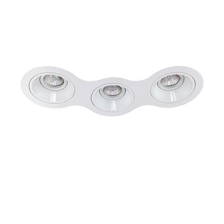 Встраиваемый светильник Lightstar Avanza 214630, 3xGU5.3x50W, белый, металл