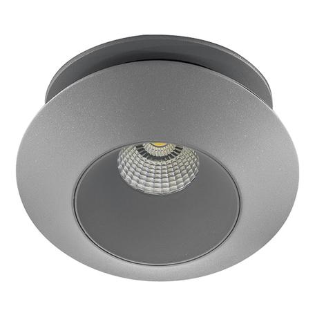 Встраиваемый светодиодный светильник с регулировкой направления света Lightstar Orbe 051209, LED 15W 4000K 1240lm, серый, металл