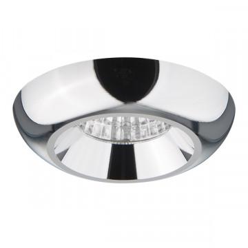 Встраиваемый светодиодный светильник Lightstar Monde 071054, IP44, LED 5W 3000K 400lm, хром, металл
