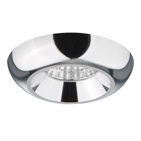 Встраиваемый светодиодный светильник Lightstar Monde 071154, IP44, LED 5W 4000K 400lm, хром, металл