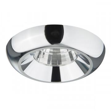 Встраиваемый светодиодный светильник Lightstar Monde 071174, IP44, LED 7W 4000K 560lm, хром, металл