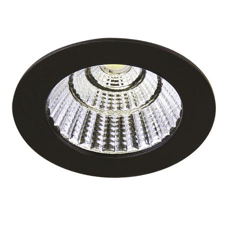 Встраиваемый светодиодный светильник Lightstar Soffi 11 212417, LED 7W 3000K 630lm, черный, металл