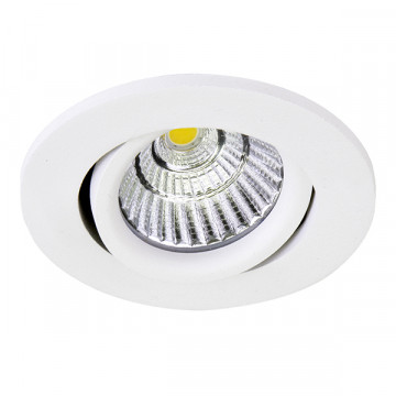 Встраиваемый светодиодный светильник Lightstar Soffi 16 212436, LED 7W 3000K 630lm, белый, металл