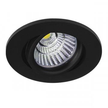 Встраиваемый светодиодный светильник Lightstar Soffi 16 212437, LED 7W 3000K 630lm, черный, металл