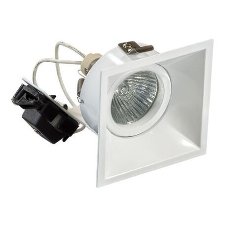 Встраиваемый светильник Lightstar Domino 214506, 1xGU5.3x50W, белый, металл