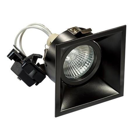 Встраиваемый светильник Lightstar Domino 214507, 1xGU5.3x50W, черный, металл