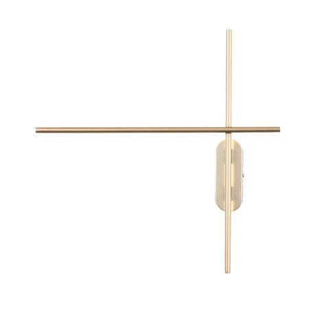 Настенный светодиодный светильник ST Luce Basoni SL394.201.02, LED 20W 4000K 1167lm, матовое золото, металл