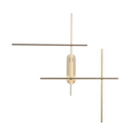 Настенный светодиодный светильник ST Luce Basoni SL394.201.04, LED 36W 4000K 2100lm, матовое золото, металл