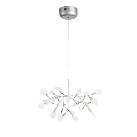 Подвесная светодиодная люстра ST Luce Rafina SL379.103.30, IP21, LED 15W 3500K 1035lm, серебро, белый, металл, пластик