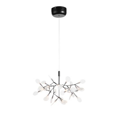 Подвесная светодиодная люстра ST Luce Rafina SL379.403.30, IP21, LED 15W 3500K 1035lm, черный, белый, металл, пластик
