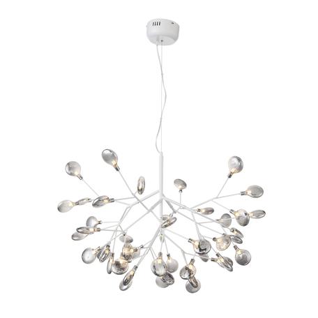 Подвесная люстра ST Luce Riccardo SL411.513.45, 45xG4x1,5W, белый, дымчатый, металл, стекло