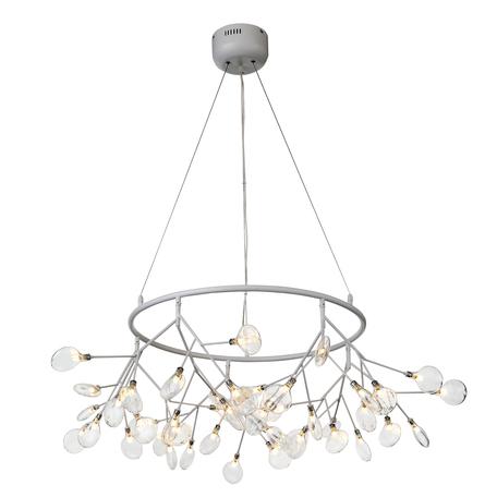 Подвесная люстра ST Luce Riccardo SL411.533.45, 45xG4x1,5W, белый, прозрачный, металл, стекло