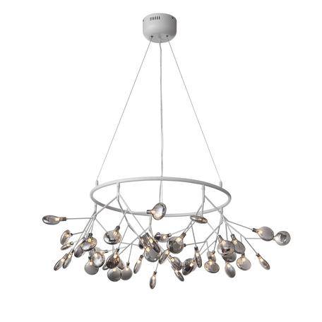 Подвесная люстра ST Luce Riccardo SL411.543.45, 45xG4x1,5W, белый, дымчатый, металл, стекло